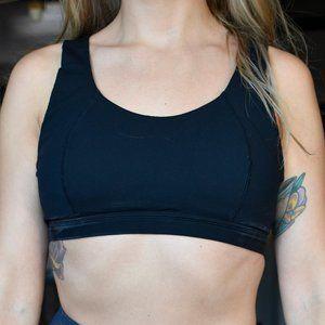 Sweaty Betty Black Sports Bra with Lacing detail